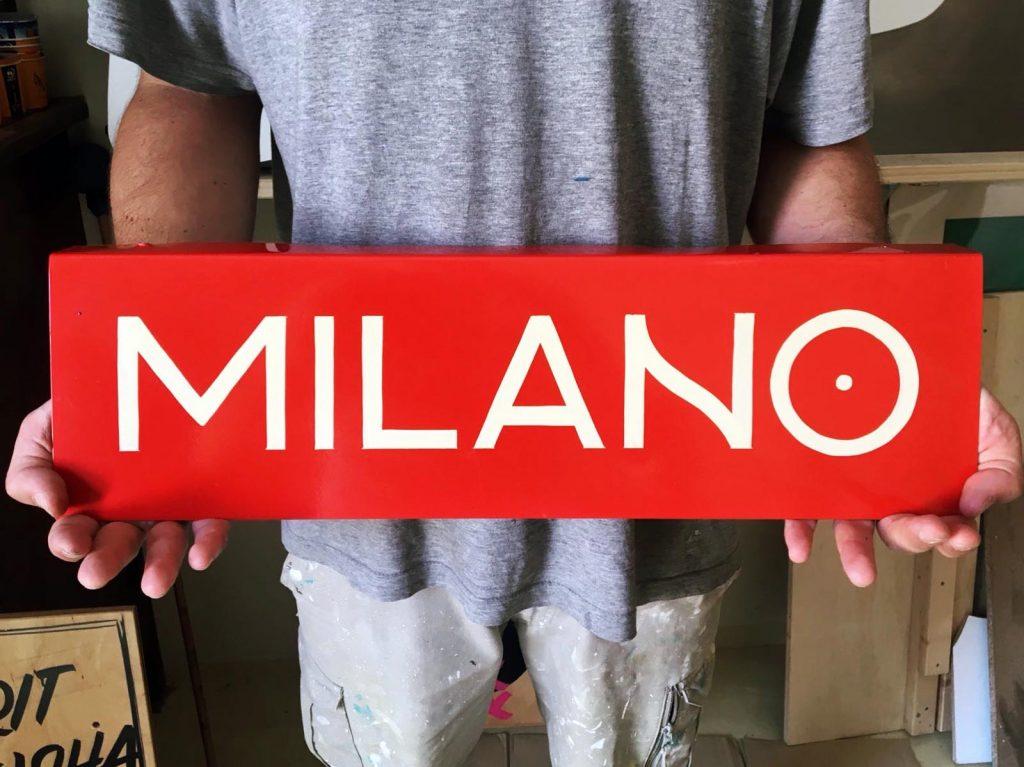 ricCarlo Destefani - pittore di insegne - Insegna dipinta a mano Brescia Milano