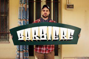 ricCarlo Destefani - Insegna barbiere vintage dipinta a mano