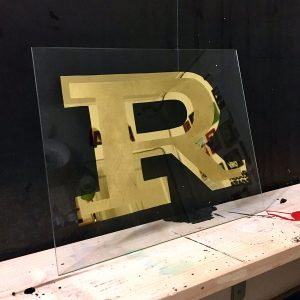 ricCarlo Destefani - Insegna dipinta a mano con foglia d'oro