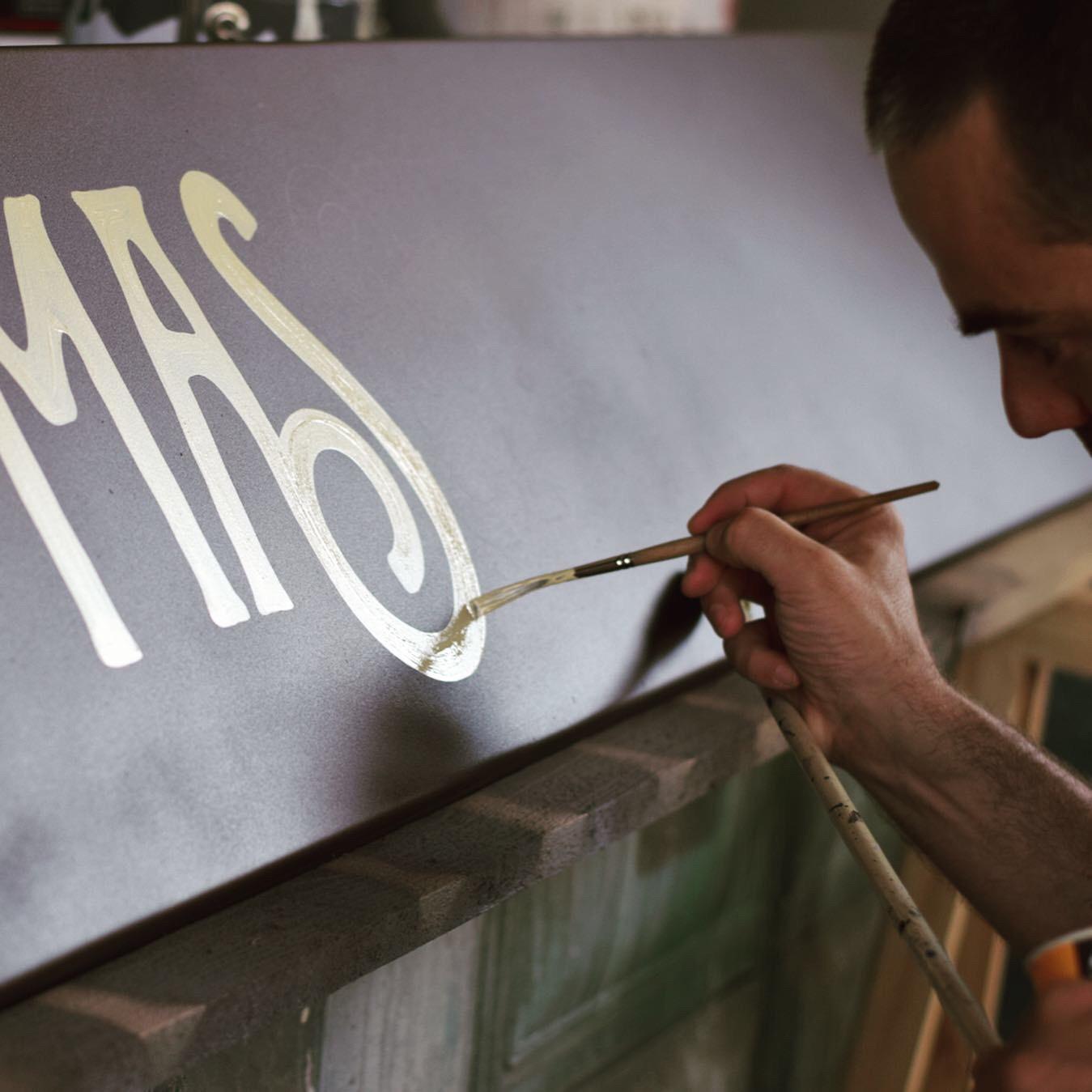 insegna dipinta ristorante - verona ponte pietra